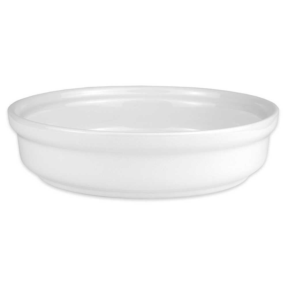 "Hall China 21560BBWA 7.75"" Round Casserole Dish w/ 32-oz Capacity, White"