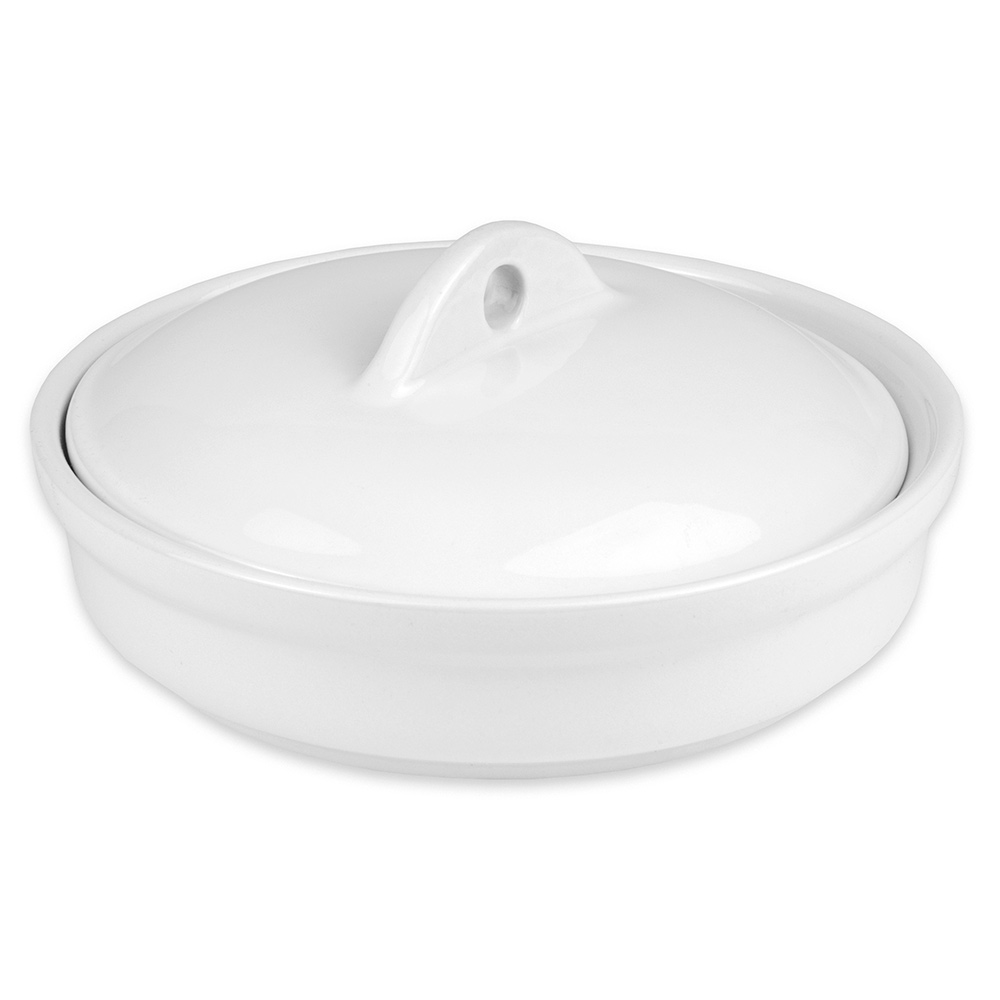 Hall China 21560CBWA Casserole Dish Cover for 32-oz Dish, White