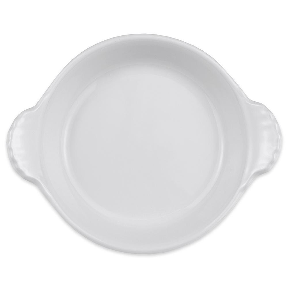 """Hall China 4330ABWA 5.875"""" Round Au Gratin Dish w/ 8-oz Capacity, White"""