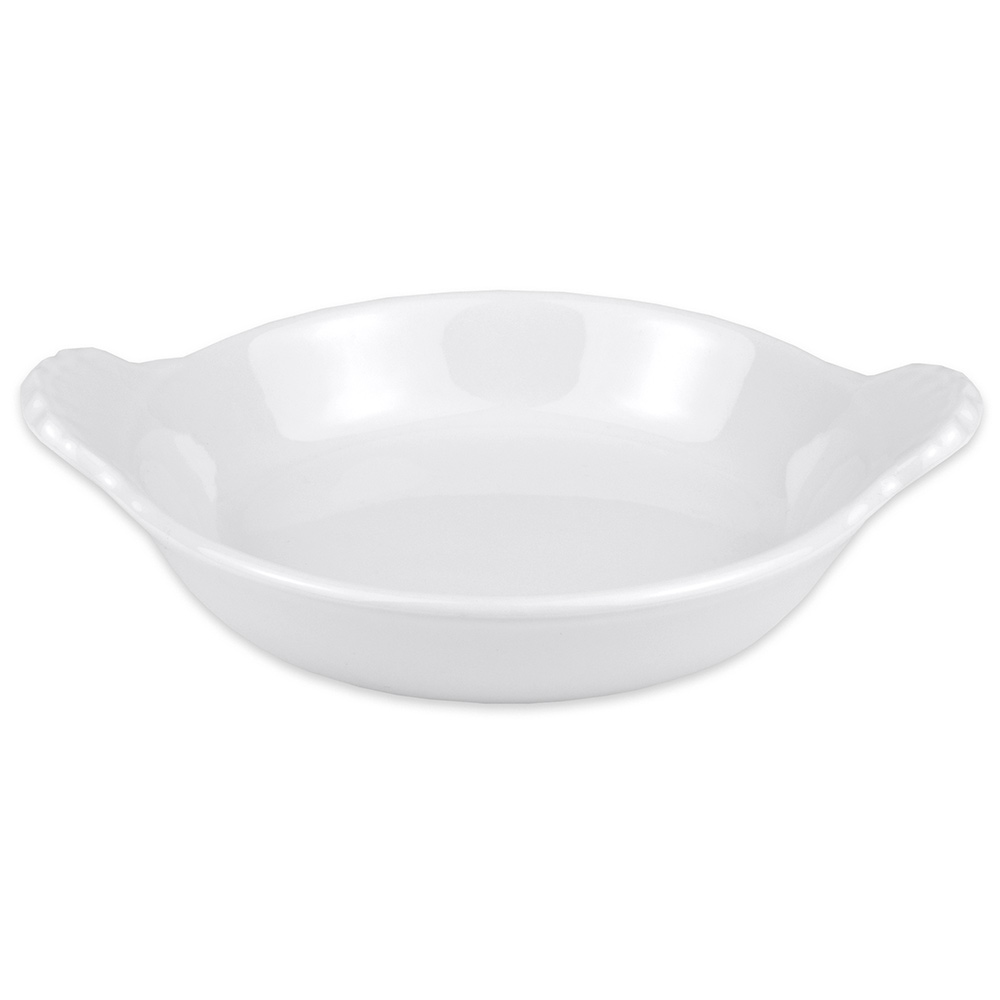 "Hall China 4330ABWA 5.875"" Round Au Gratin Dish w/ 8-oz Capacity, White"