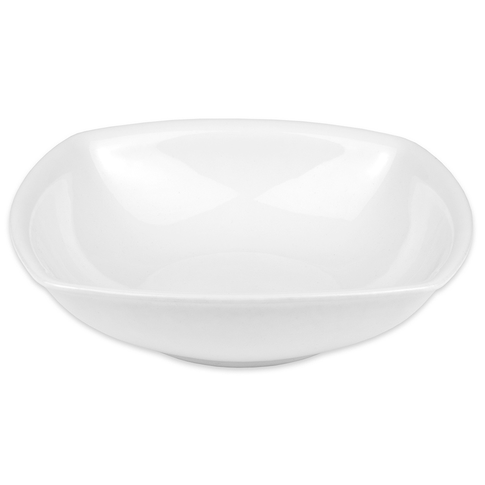 "Hall China 44670ABWA 9.125"" Square Bowl w/ 43-oz Capacity, White"