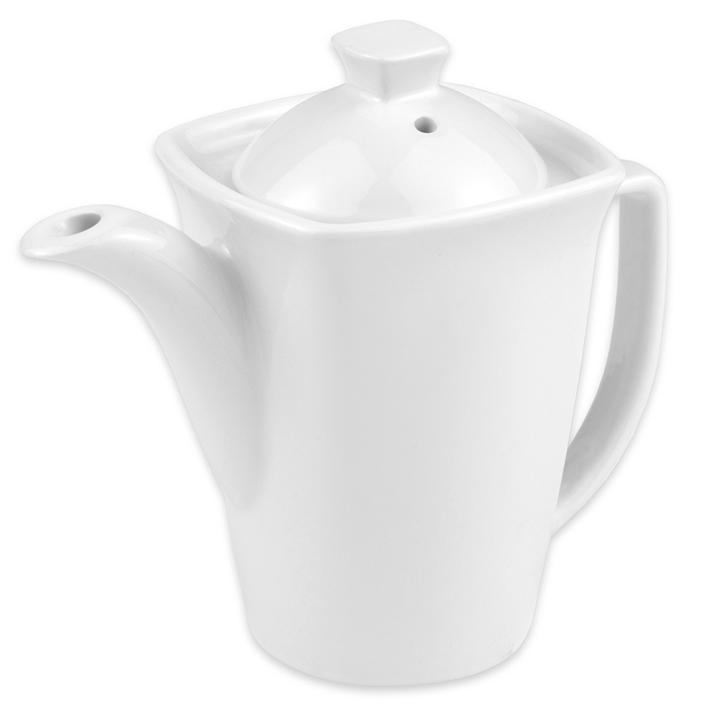 "Hall China 44770ABWA Teapot w/ 16-oz Capacity, 6.875"" x 3.8125"", White"