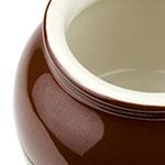 Hall China 4610ABRB 7-oz Bean Pot, Brown