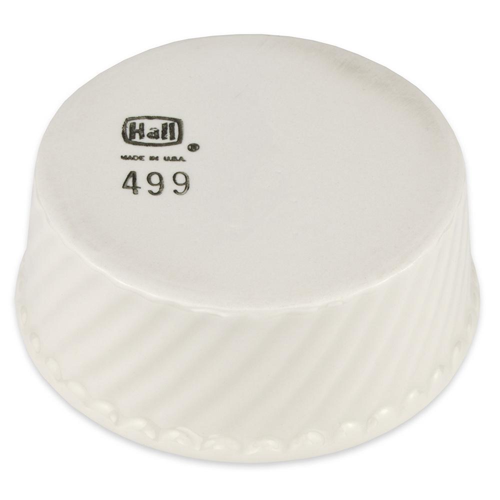 "Hall China 4990AWHA 4.5"" Round Souffle Dish w/ 8.5-oz Capacity, White"