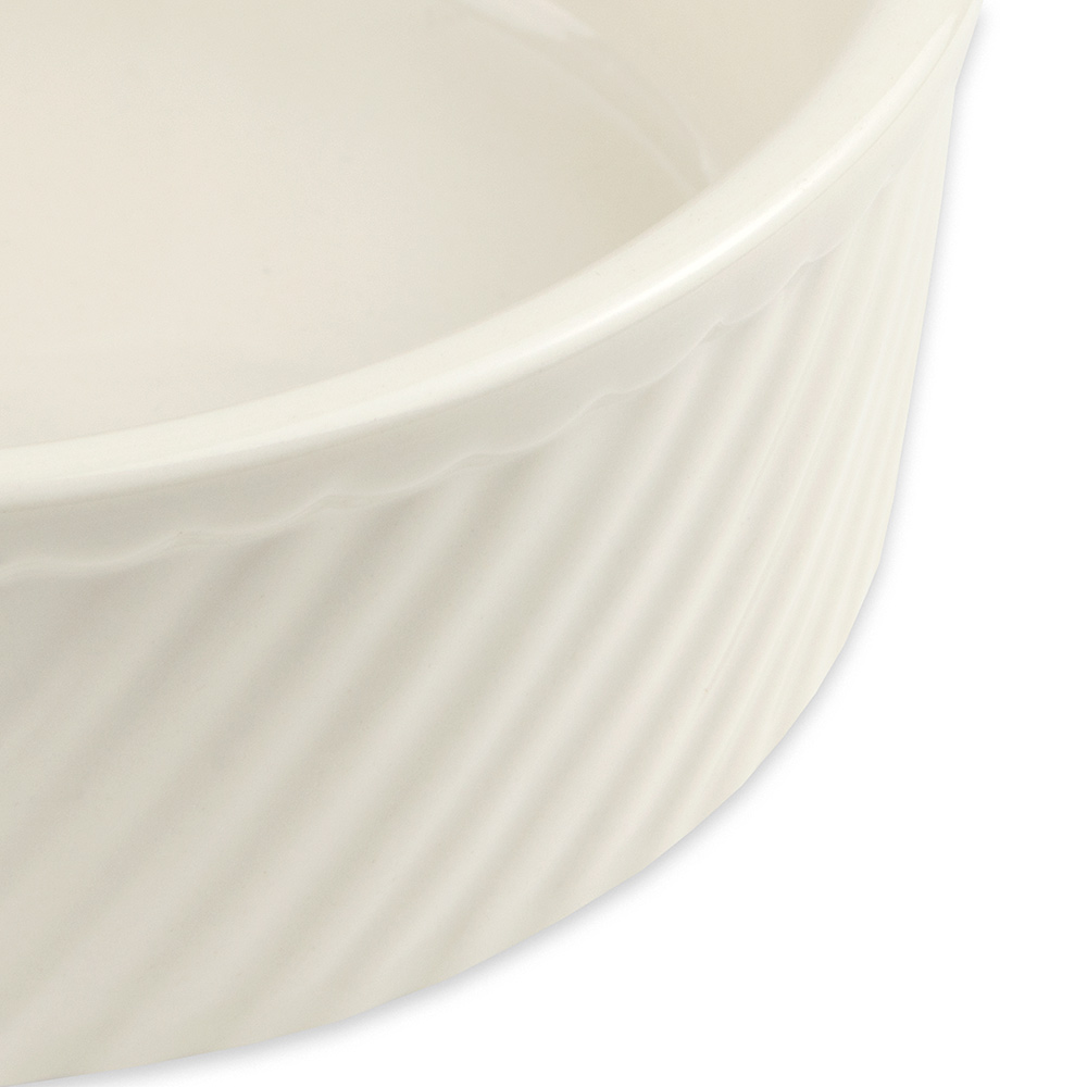 "Hall China 5020AWHA 6"" Round Souffle Dish w/ 20-oz Capacity, White"