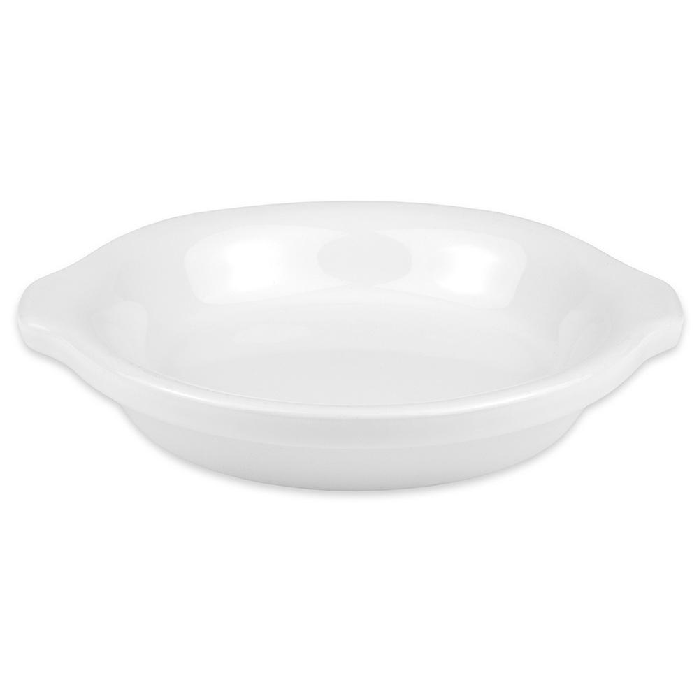 """Hall China 5130ABWA 6.25"""" Round Au Gratin Dish w/ 10-oz Capacity, White"""