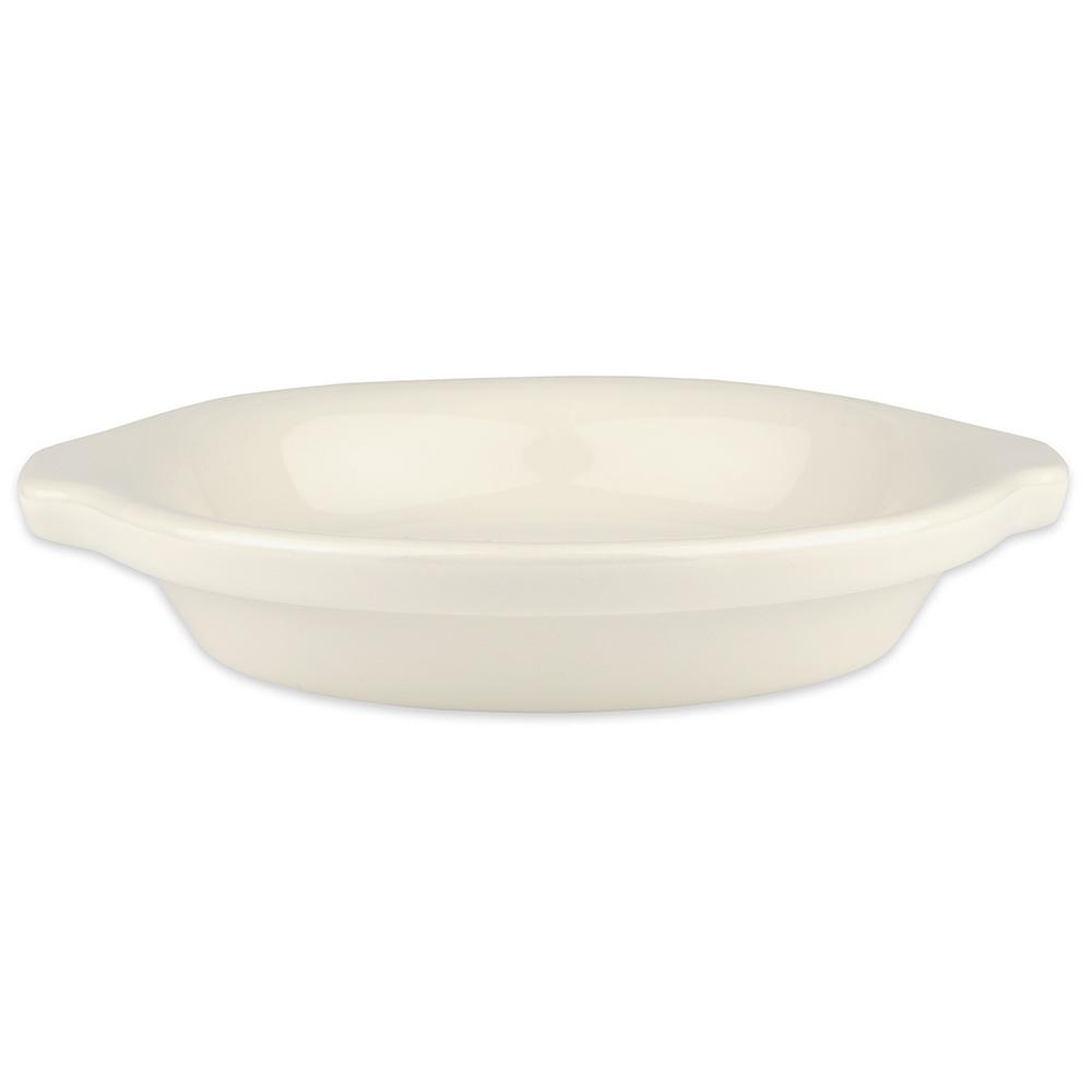 "Hall China 5130AWHA 6.25"" Round Au Gratin Dish w/ 10-oz Capacity, White"