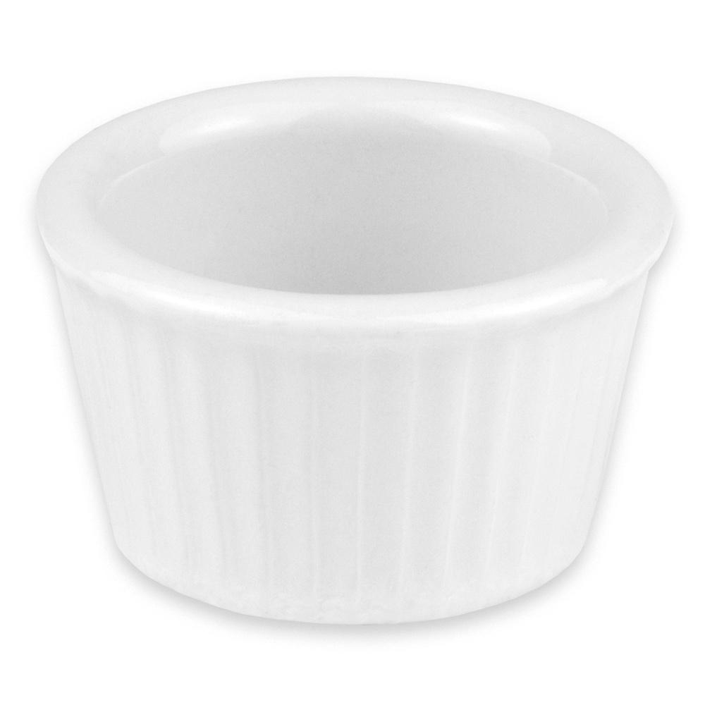 "Hall China 843-BW 2.25"" Round Ramekin w/ 1-oz Capacity, White"
