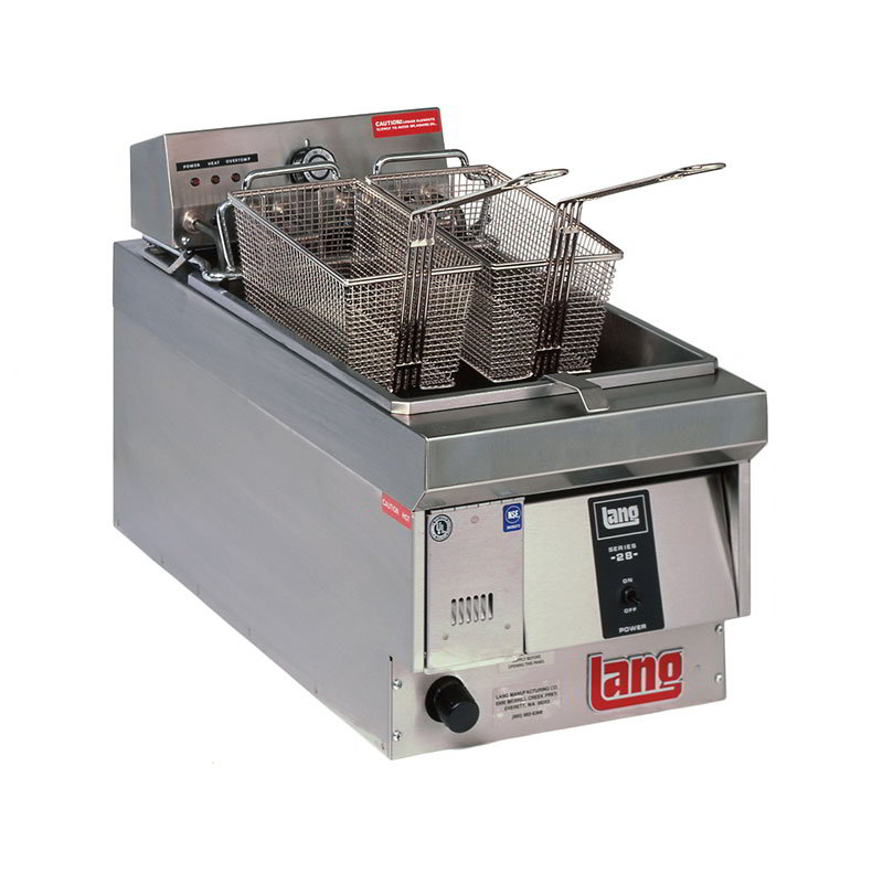 Lang 130F Countertop Electric Fryer - (1) 28-lb Vat, 208v/3ph