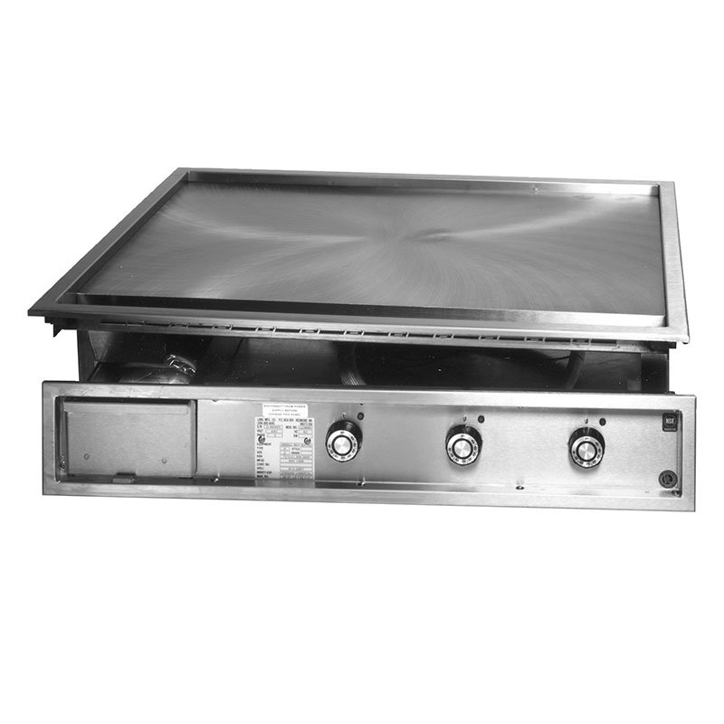 Lang 136TDI2083 36-in Drop In Griddle w/ 1-in Steel Plate & Mechanical Thermostat, 208/3