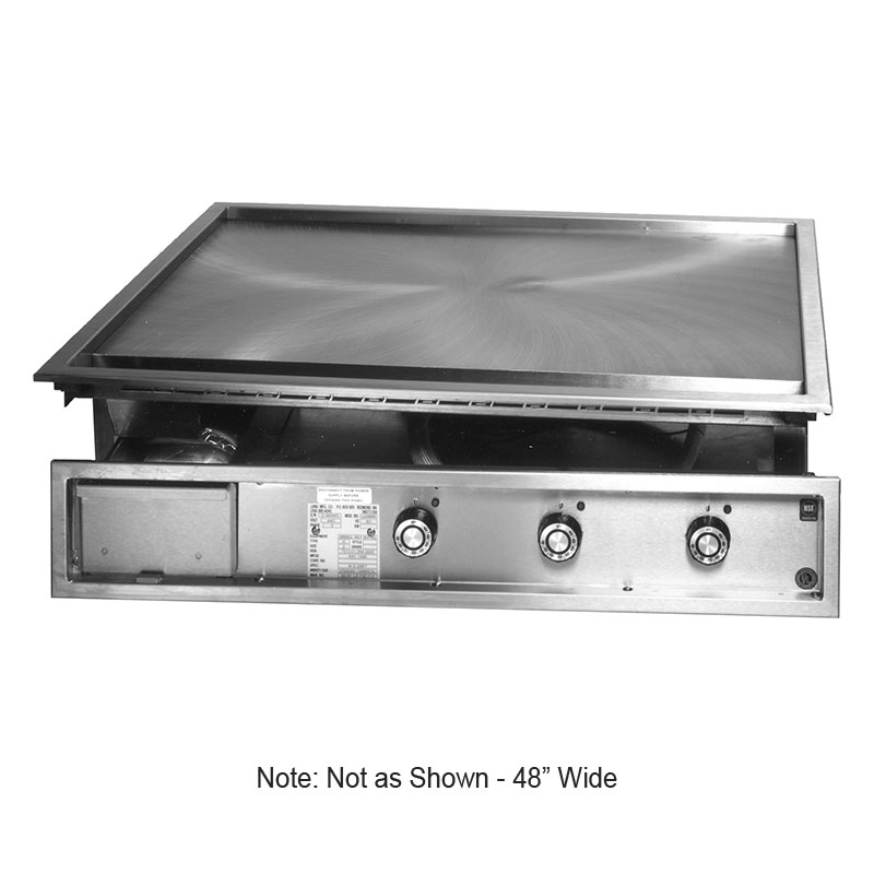 Lang 148TT12KW2083 48-in Drop In Teppanyaki Griddle w/ 1-in Steel Plate, 12-kW, 208/3