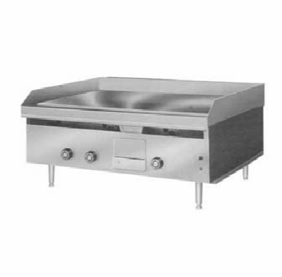 Lang 224TNG 24-in Griddle w/ 1-in Steel Plate & Mechanical Thermostat NG Restaurant Supply