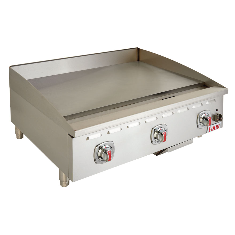 "Lang 436T 36"" Gas Griddle - Thermostatic, 1"" Steel Plate, NG"