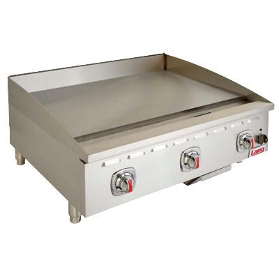 "Lang 448T 48"" Gas Griddle - Thermostatic, 1"" Steel Plate, NG"