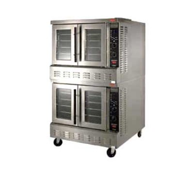 Lang ECODS22083 G & E Series Conv. Oven Extra-Deep Selectronic II Double Deck 208V/3ph Restaurant Supply