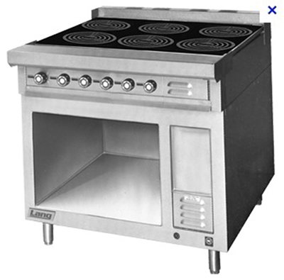 Lang RI36B-ATE Floor Model Commercial Induction Range, 208v