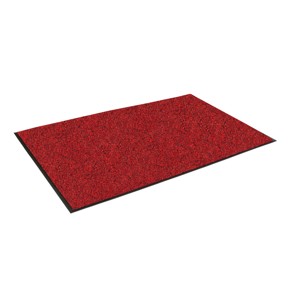 "Crown GS0035CR Rely-On Olefin Wiper Mat, 3 x 5-ft, 3/8"" Thick, Red"