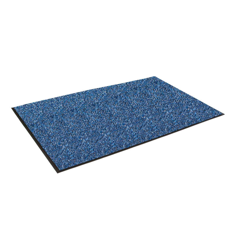 "Crown GS0035SB Rely-On Olefin Wiper Mat, 3 x 5-ft, 3/8"" Thick, Blue"