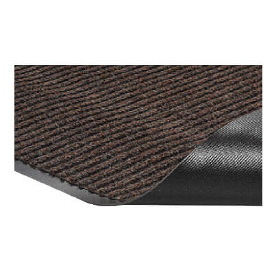 Crown NR0035BR Needle Rib Wiper Scraper Mat, 3 x 5-ft, 5/16-in Thick, Brown