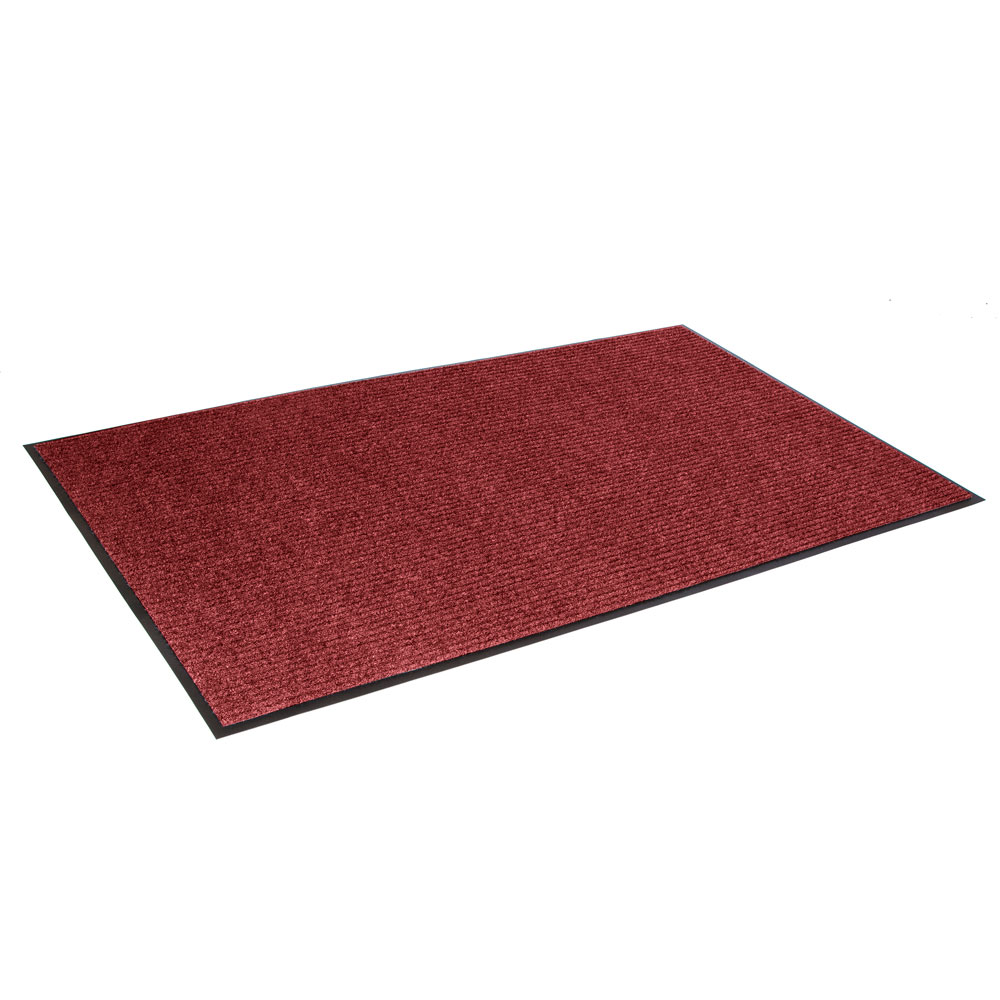 Crown NR0035RD Needle Rib Wiper Scraper Mat, 3 x 5-ft, 5/16-in Thick, Red