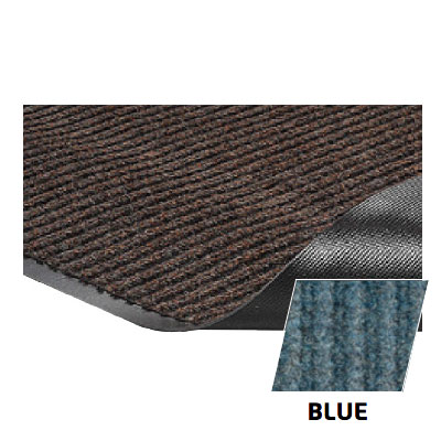 Crown NR0046BL Needle Rib Wiper Scraper Mat, 4 x 6-ft, 5/16-in Thick, Blue