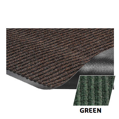 Crown NR0046GR Needle Rib Wiper Scraper Mat, 4 x 6-ft, 5/16-in Thick, Green