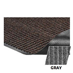 Crown NR0046GY Needle Rib Wiper Scraper Mat, 4 x 6-ft, 5/16-in Thick, Gray
