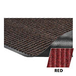 Crown NR0046R Needle Rib Wiper Scraper Mat, 4 x 6-ft, 5/16-in Thick, Red