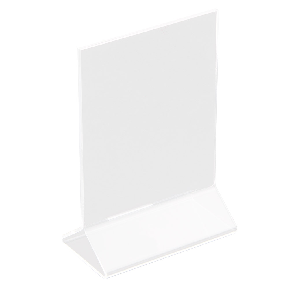 "Update International ACH-46 Table Card Holder - 4x6"" Clear Acrylic"