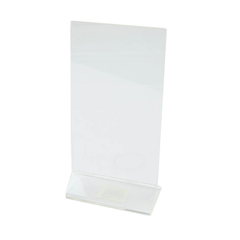 "Update International ACH-48 Table Card Holder - 4x8"" Clear Acrylic"