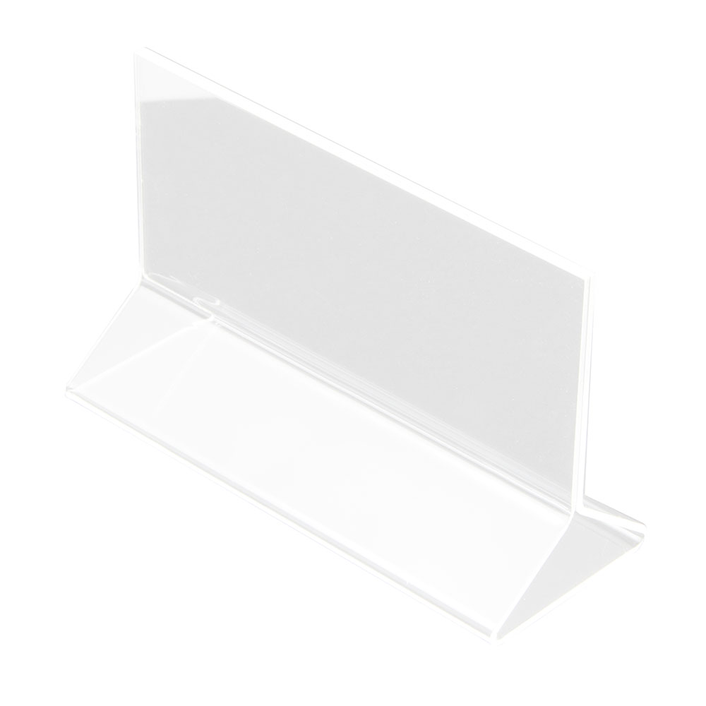 "Update International ACH-53 Table Card Holder - 5x3-1/2"" Clear Acrylic"