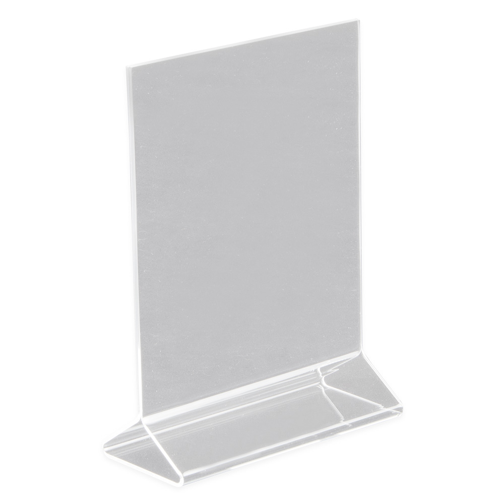 "Update ACH-57 Tabletop Menu Card Holder - 5"" x 7"", Acrylic"
