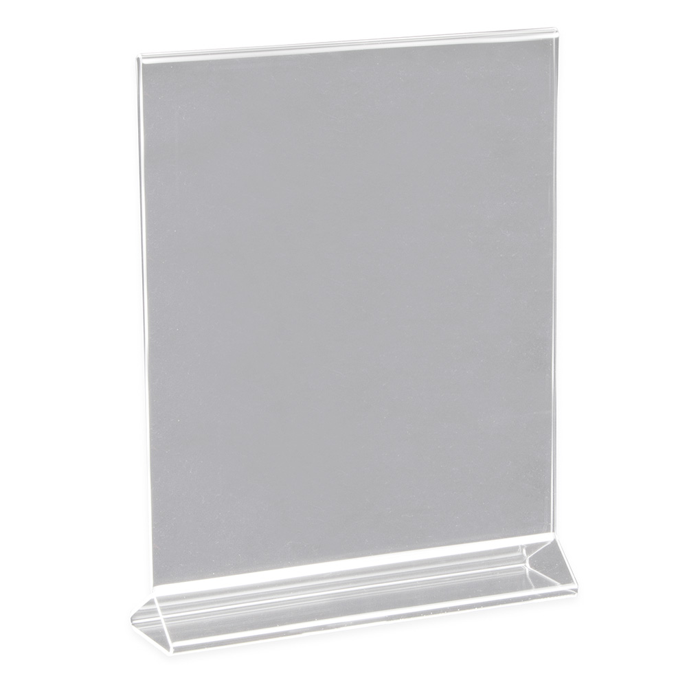 "Update ACH-811 Tabletop Menu Card Holder - 8"" x 11"", Acrylic"