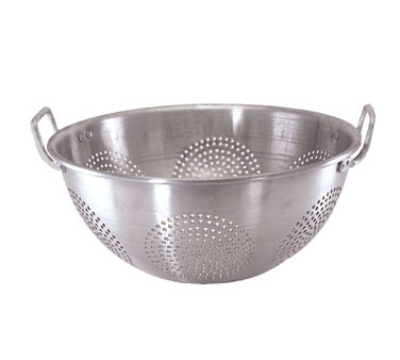 Update International ACO-16CH 16-qt Chinese Colander with Handles - Aluminum