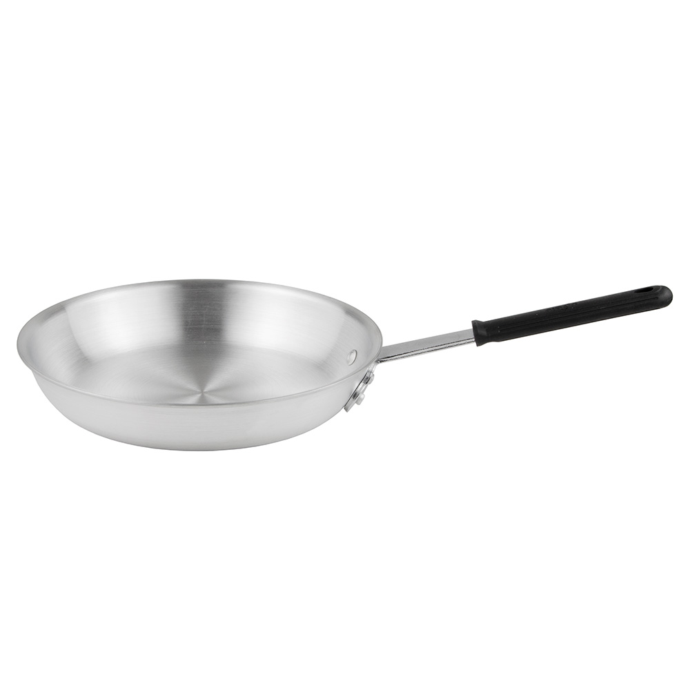 """Update AFP12H 12"""" Aluminum Frying Pan w/ Solid Silicone Handle"""