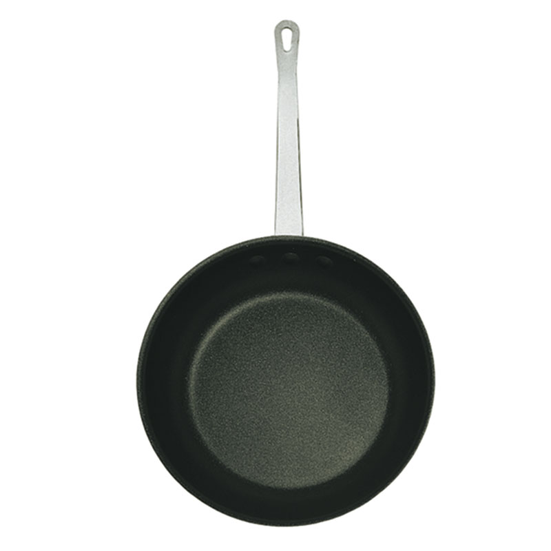 "Update AFX-08 8"" Aluminum Frying Pan w/ Solid Metal Handle"