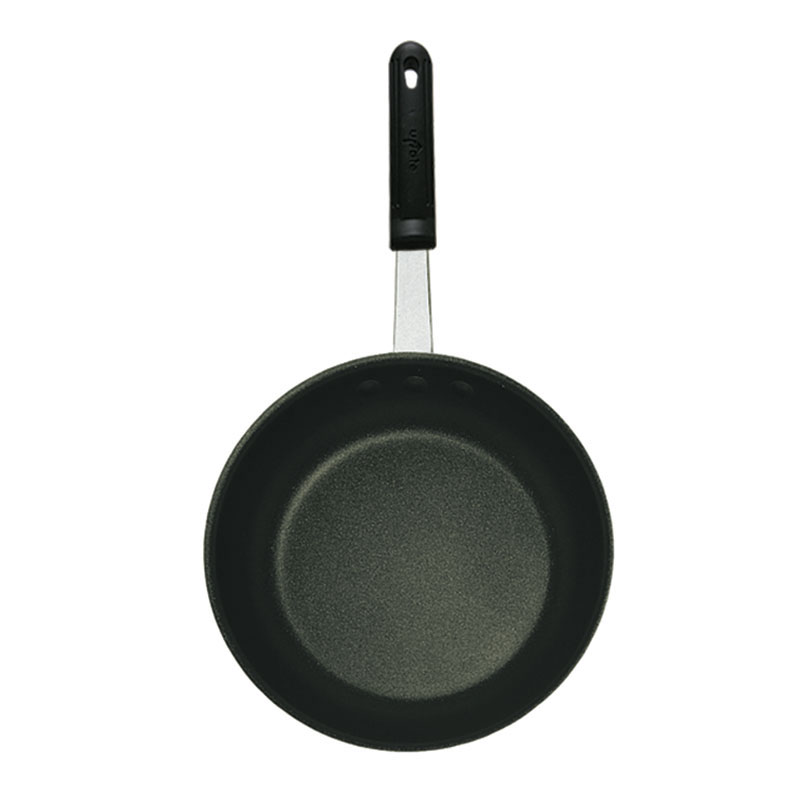 "Update AFX-08H 8"" Aluminum Frying Pan w/ Solid Metal Handle"