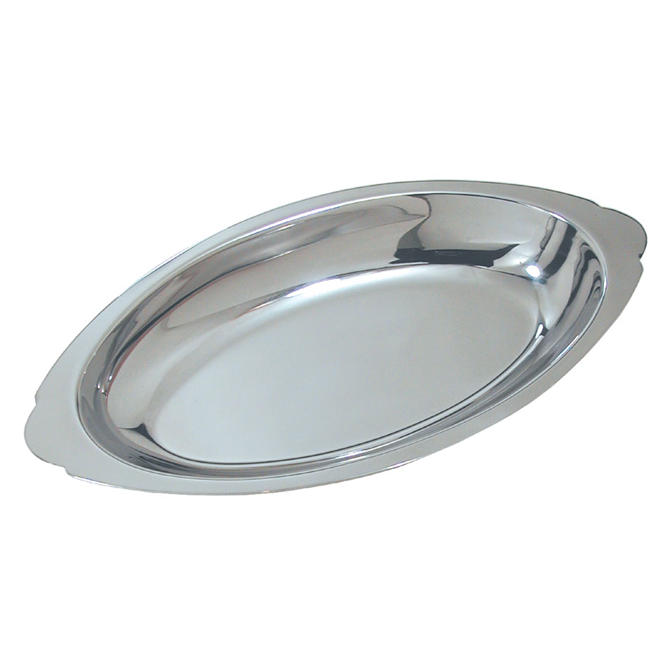 Update AGO-15 15-oz Oval Au Gratin Platter - Stainless