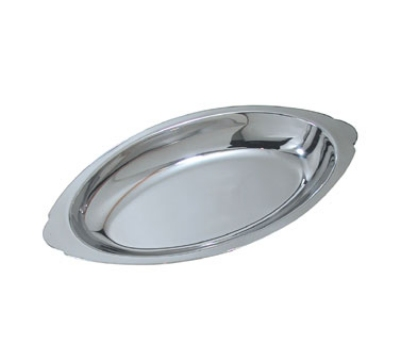 Update International AGO-15 15-oz Oval Au Gratin Platter - Stainless