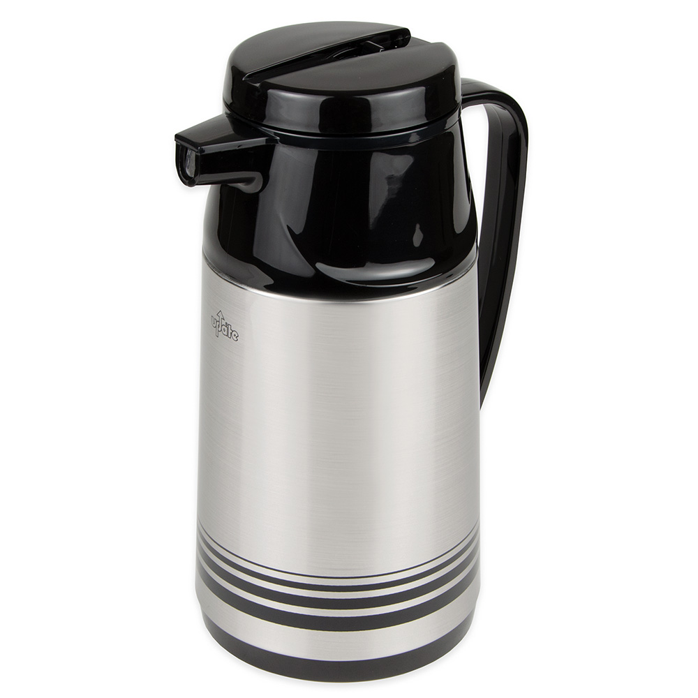 Update International AIS-100/SF 33-oz Vacuum Beverage Server - Insulated, Black/Stainless