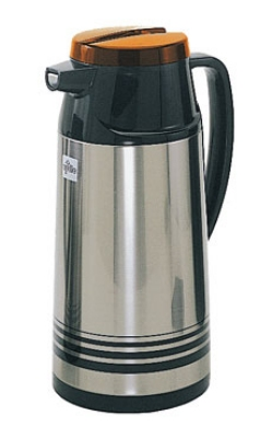 Update International AIS-190/OR 1.9 Liter Stainless Steel Vacuum Jug Glass Lined Orange Top Restaurant Supply