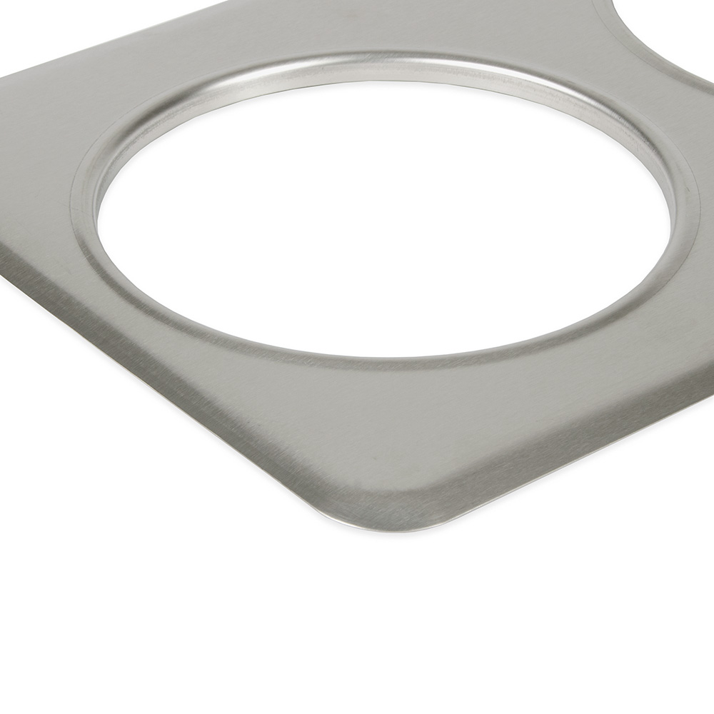 "Update AP-27D Adapter Plate - (2)8-3/8"" Inset Holes, Stainless"