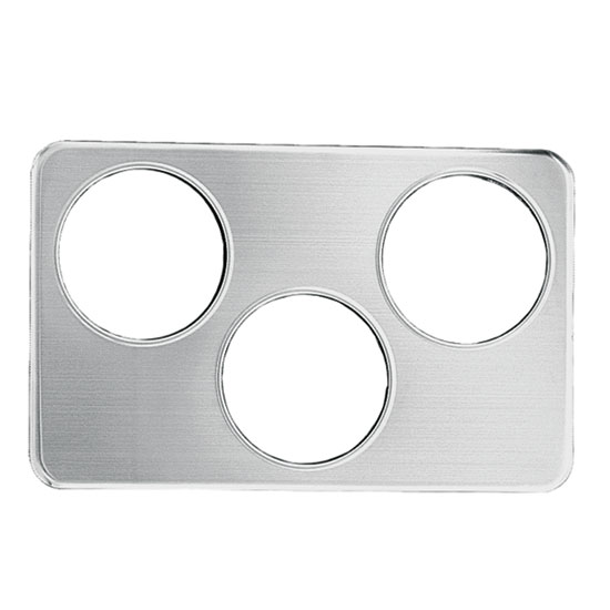 "Update AP-34D Adapter Plate - (3)6-3/8"" Inset Holes, Stainless"