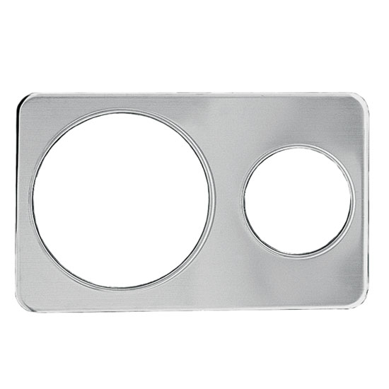"Update International AP-411D Adapter Plate - (1)6-3/8, (1)10-3/8"" Inset, Stainless"