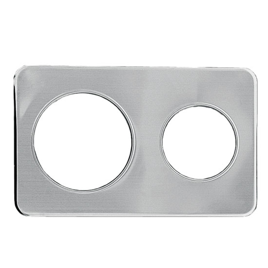 "Update AP-47D Adapter Plate - (1)6-3/8, (1)8-3/8"" Inset, Stainless"