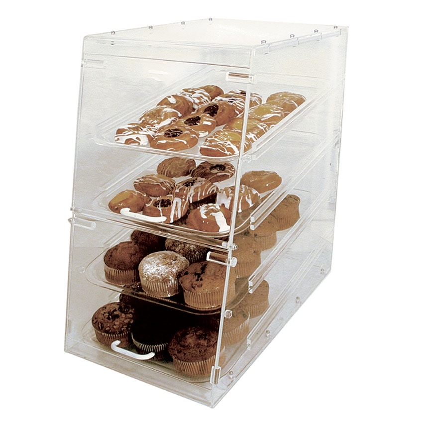 "Update APB-1424FD Pastry Display - Front/Rear Doors, (4)Trays, 14x14x24"" Clear Acrylic"
