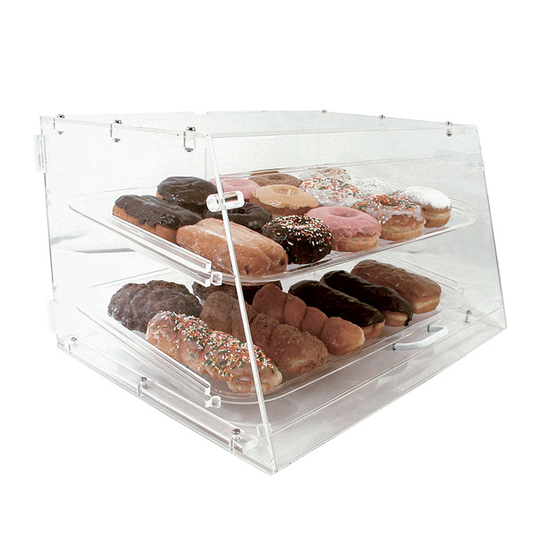 "Update APB-2112FD Pastry Display - Front/Rear Doors, (2)Trays, 21x17-1/4x12"" Clear Acrylic"
