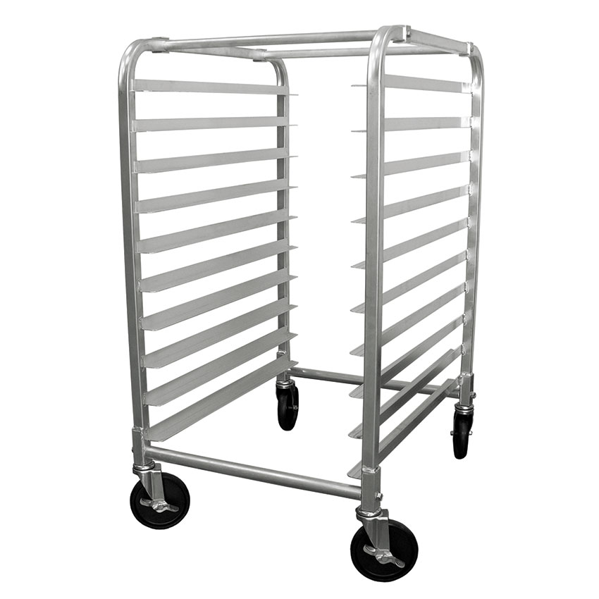 "Update APR-10HD Half-Size Pan Rack - 10-Tiers, 5"" Castors, Aluminum"