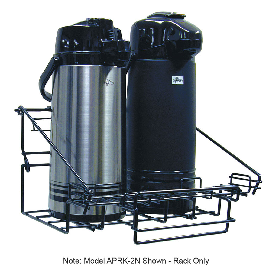 Update APRK-3N 1-Tier Airpot Rack - 3-Airpot Capacity, Drip Trays, Sign Holders, Resin Coating