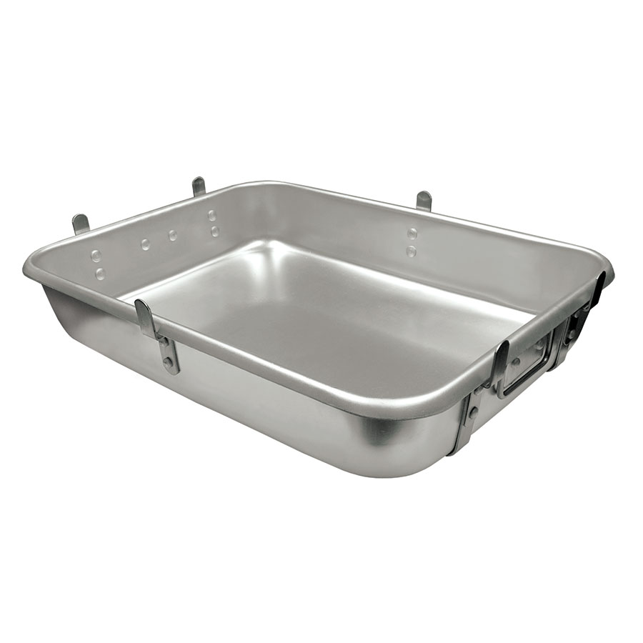 "Update International ARP-1824L Roasting Pan with Lugs - 18x24x4-1/2"" Aluminum"